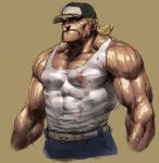blonde_hair cap cozy fatal_fury hat male manly muscle redneck tank_top terry_bogard veins