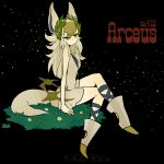 arceus female l_hakase legs_crossed moemon personification pokemon sitting