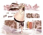 bad_id boots braid coat earmuffs gloves kuro_(miyama415) long_hair pantyhose ponytail scarf sekka_yufu silver_hair skirt snow solo utau