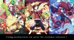 arcanine bag black_hair cabbie_hat congratulations crystal_(pokemon) cubone cue_stick english feraligatr fire gloves goggles goggles_on_head gold_(pokemon) grin gyarados hat hat_ribbon highres hitmonchan honchkrow kingdra kotone_(pokemon) kotone_(pokemon)_(cosplay) long_hair looking_at_viewer meganium overalls parasect petals pokedex pokemon pokemon_special politoed red_hair redhead ribbon short_hair silver_(pokemon) smile sudowoodo sunflora togepi twintails typhlosion water weavile xatu z-epto_(chat-noir86)