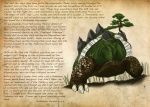 english michael_casteel no_humans pokemon realistic solo text torterra tree
