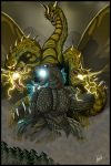battle dragon forest godzilla godzilla_(series) kaijuu king_ghidorah