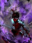 aura bandage bandages hiei homex katana male revision shirtless solo sword third_eye weapon yuu_yuu_hakusho