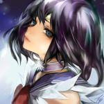 bishoujo_senshi_sailor_moon black_hair choker face looking_at_viewer sailor_saturn solo tcb tiara tomoe_hotaru