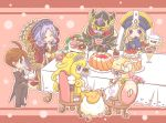aqua_eyes armor atusix bare_shoulders blonde_hair blue_eyes blue_skin blush_stickers breasts brown_eyes brown_hair cake chair closed_eyes detached_sleeves divine_grace_-_northwemko divine_grace_northwemko duel_monster eating endymion_the_master_magician eyes_closed food glass glasses happy heart horns ice_cream jewelry lavender_hair madolce_butlerusk madolce_mehple madolce_puddingcess madolche_baaple madolche_butlerusk madolche_puddingcess mion_the_master_magician neckalace necklace number_11_big_eye pie pink_hair queen_madolce_tiaramisu queen_madolche_tiaramisu red_hair redhead sheep sitting smile spoon sundae table tea teapot white_magician_pikeru yellow_eyes yu-gi-oh! yuu-gi-ou