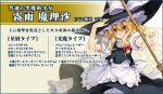 blonde_hair bow broom character_name hair_bow hand_on_hat hat hat_bow keg kirisame_marisa long_hair looking_at_viewer outstretched_arm puffy_sleeves reaching reaching_out ribbon short_sleeves skirt smile solo touhou touhou_sky_arena witch_hat yellow_eyes