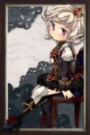 blonde_hair boots crown eirawen kajio_(maburo) mabinogi purple_eyes revision short_hair sitting solo thigh-highs thighhighs violet_eyes white_legwear