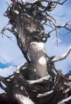 bare_tree branch breasts noir_(artist) original plant_girl sky solo tree white_skin