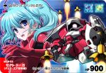 aqua_hair blue_eyes char's_counterattack char's_counterattack chibi furigana gundam jagd_doga jagd_doga_quess_custom kome_(le7) mecha open_mouth pilot_suit quess_paraya rounded_corners shield short_twintails space twintails yone