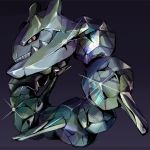 g-son59 metal nintendo no_humans pokemon red_eyes shiny solo steelix