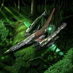 album_cover bad_id broked broken copyright_request cover jungle light mecha mecha_to_identify nature no_humans plant raycrisis tree vines wr-01 wreckage