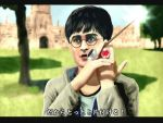 1boy black_hair glasses green_eyes harry_james_potter harry_potter jewelry kamen_rider kamen_rider_wizard kamen_rider_wizard_(series) male ring school_uniform short_hair solo translation_request