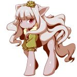 blush clearite flower hairband idolmaster looking_at_viewer my_little_pony pony shijou_takane simple_background solo white_background