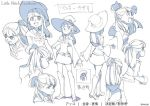 akko_kagari character_sheet hat little_witch_academia monochrome translation_request witch witch_hat yoshinari_you