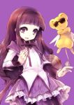 akemi_homura akemi_homura_(cosplay) black_hair card_captor_sakura cardcaptor_sakura cosplay daidouji_tomoyo hairband kamitsurugi_ouka kero long_hair look-alike magical_girl mahou_shoujo_madoka_magica pantyhose purple_eyes shield sunglasses violet_eyes
