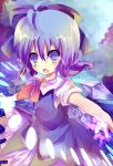 ahoge bad_id blue_eyes blue_hair bow cirno hair_bow open_mouth rarami solo touhou wings