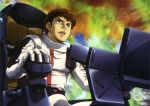 amuro_ray brown_hair char's_counterattack char's_counterattack cockpit gundam highres official_art pilot_suit