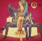 1girl 4boys bluespeaker female formal gemini_aspros gemini_defteros gemini_kanon gemini_paradox gemini_saga male multiple_boys saint_seiya saint_seiya:_the_lost_canvas saint_seiya_omega