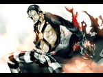 black_sclera claws jojo_no_kimyou_na_bouken mad369 metallica_(stand) risotto_nero solo stand_(jojo) striped striped_pants