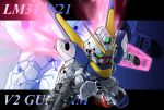 character_name chibi glowing glowing_wings gun gundam mecha memento_vivi motion_blur no_humans shield solo v2_gundam victory_gundam weapon wings zoom_layer