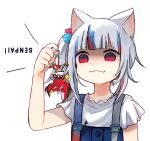 animal_ears bangs bare_shoulders black_hair cat_ears collar eyebrows_visible_through_hair gawr_gura hakos_baelz hololive hololive_english mouse_ears mouse_girl multicolored_hair multiple_girls red_eyes redhead silver_hair smile spiked_collar spikes streaked_hair tail twintails upside-down virtual_youtuber white_hair yuuyu_(777)