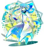7:24 blue_eyes blue_hair boots coat headset kaito kaito_(vocaloid3) looking_at_viewer male scarf smile solo vocaloid