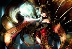 1girl ahri animal_ears breasts cleavage fox_ears fox_tail hannah_santos league_of_legends solo tail