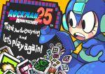 anniversary arm_cannon gashi-gashi helmet open_mouth pixel_art robot rockman rockman_(character) rockman_(classic) solo weapon
