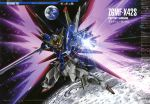 destiny_gundam earth gundam gundam_seed gundam_seed_destiny highres mecha no_humans official_art solo space sword weapon wings