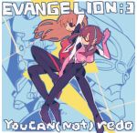 brown_hair eva_02 eva_08 evangelion:_3.0_you_can_(not)_redo eyepatch long_hair multiple_girls neon_genesis_evangelion orange_hair pikaro plugsuit rebuild_of_evangelion shikinami_asuka_langley smile soryu_asuka_langley souryuu_asuka_langley twintails