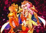 cape gold_cloth lionet_soma mask orange_hair purple_hair saint_seiya saint_seiya_omega scorpio_sonia smile