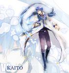 blue_eyes blue_hair headset irono_yoita kaito kaito_(vocaloid3) male scarf solo vocaloid