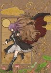 1girl anchor art_nouveau blonde_hair boots breasts brown_hair cape closed_eyes cloud clouds dowsing_rod dress eyes_closed flower gradient_hair highres hijiri_byakuren hishaku houjuu_nue jeweled_pagoda jewelry kumoi_ichirin lance long_hair long_sleeves multicolored_hair murasa_minamitsu nazrin polearm purple_hair ring serpent smile solo toramaru_shou touhou trident two-tone_hair weapon