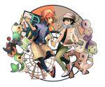 2boys artice baseball_cap bulbasaur charmander hat kyouhei_(pokemon) multiple_boys oshawott pokemon pokemon_(game) pokemon_bw2 pokemon_rgby red_(pokemon) red_(pokemon)_(classic) snivy squirtle tepig visor_cap