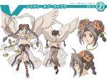 angel balance brown_hair cardfight!!_vandguard flowers goddess light_brown_hair sandals tagme twintails vanguard wings