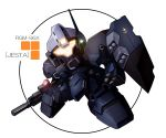 beam_rifle chibi glowing glowing_eyes gun gundam gundam_unicorn jesta mecha no_humans rocket_launcher shield solo take_tonbo weapon