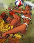 ass basketball breast capcom ebony elena fighting muscles sean_matsuda street_fighter