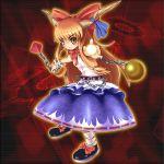 belt bow chain ibuki_suika oni orange_hair touhou umigarasu_(artist) umigarasu_(kitsune1963) yellow_eyes