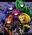 >:d 5girls :d :p ass bad_end_beauty bad_end_happy bad_end_march bad_end_peace bad_end_precure bad_end_sunny bat_wings blonde_hair blue_dress blue_eyes blue_hair bodysuit breasts clothed_navel crossed_arms crossed_legs dark_persona dress english fingerless_gloves frills gem gloves graffiti green_dress green_eyes green_hair grey_background grin letterboxed long_hair looking_back multiple_girls open_mouth orange_dress orange_eyes orange_hair pink_dress pink_eyes pink_hair ponytail precure shaded_face short_hair sitting skin_tight skirt smile smile_precure! tamago_kago tiara tongue tongue_out twintails very_long_hair wide_sleeves wings yellow_dress yellow_eyes