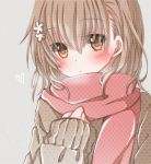 1girl blush brown_eyes bust hiro_(hirohiro31) misaka_mikoto scarf short_hair solo to_aru_majutsu_no_index