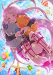 :o ahoge balloon blush cake food gift hot_air_balloon hug ia_(vocaloid) pon_toko star vocaloid windmill