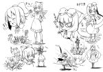 2girls :d al_bhed_eyes bloomers bow cirno closed_eyes concept_art dress drill explosion face_down fairy frog front_ponytail frozen hair_bow ice ice_wings kagiyama_hina kannazuki_hato long_hair mary_janes mouth_hold multiple_girls needle open_mouth pointy_ears shoes short_hair smile smoke spinning sweat syringe touhou wings wrist_cuffs