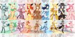 6+girls absurdres animal_ears black_hair blonde_hair blue_eyes blue_hair boots eevee espeon flareon glaceon highres jolteon leafeon long_hair lord_jack multiple_girls open_mouth personification pokemon purple_hair red_eyes redhead short_hair smile sylveon tagme tail umbreon vaporeon