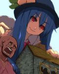 giantess hinanawi_tenshi minecraft pickaxe taramo torch touhou