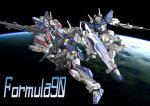 bazooka beam_rifle cannon earth f90_gundam f90ii_gundam f90y_cluster_gundam gun gundam gundam_f90 gundam_silhouette_formula_91 mecha no_humans shield space weapon zero_gravity