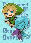 5515140 blonde_hair blue_eyes blue_hair cape earrings fi gloves hat jewelry link lowres nintendo pointy_ears skyward_sword the_legend_of_zelda