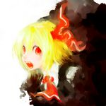 darkness fangs highres open_mouth rumia sakana_(packetsjp) solo touhou