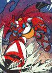 axe cape enomoto_(bnd) getter-1 getter_robo halftone mecha no_humans robot solo weapon