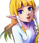 blonde_hair long_hair makoto1009 nintendo pointy_ears princess_zelda skyward_sword smile solo the_legend_of_zelda