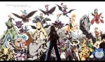 6+boys 6+girls akane_(pokemon) akkijin alakazam anime_coloring anzu_(pokemon) bellossom bloom cape crobat dragonite electabuzz elite_four english epic erika_(pokemon) everyone flying gengar gym_leader hayato_(pokemon) highres holding holding_poke_ball houndoom ibuki_(pokemon) itsuki_(pokemon) karin_(pokemon) kasumi_(pokemon) katsura_(pokemon) kingdra kyou_(pokemon) letterboxed machamp machisu_(pokemon) mamoswine matsuba_(pokemon) mikan_(pokemon) miltank multiple_boys multiple_girls natsume_(pokemon) onix ookido_green pidgeot pikachu poke_ball pokemon pokemon_(game) pokemon_hgss poliwrath rapidash red_(pokemon) riding sakaki_(pokemon) scizor shiba_(pokemon) shijima_(pokemon) silver_(pokemon) starmie steelix takeshi_(pokemon) tsukushi_(pokemon) tyranitar venomoth wataru_(pokemon) xatu yanagi_(pokemon)
